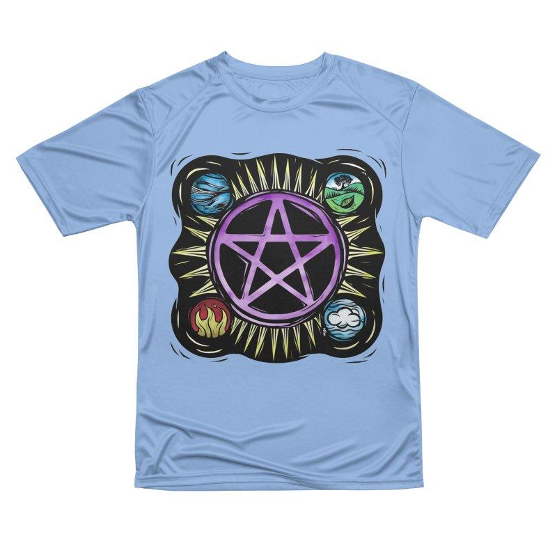Elemental Pentagram Men's Performance T-Shirt by Mandragora Magika