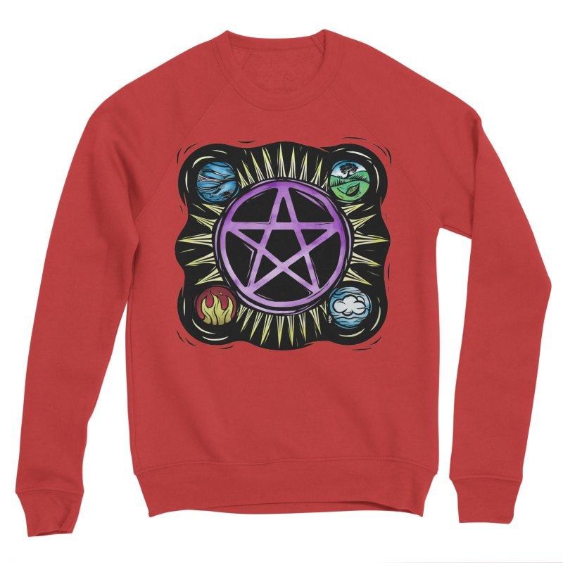 Elemental Pentagram Women's Sponge Fleece Sweatshirt by Mandragora Magika
