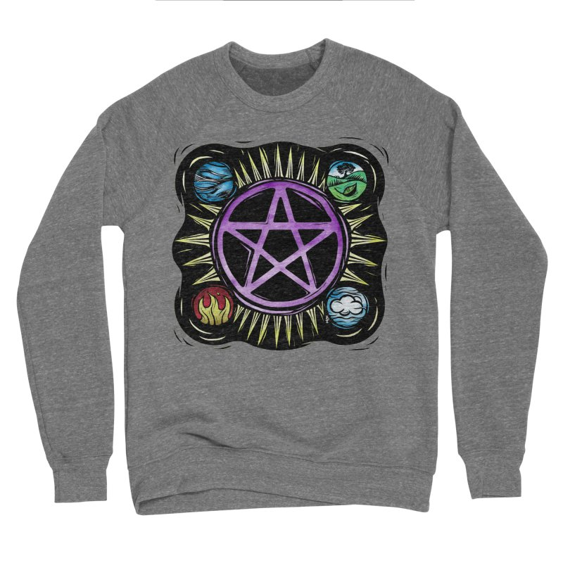 Elemental Pentagram Men's Sponge Fleece Sweatshirt by Mandragora Magika