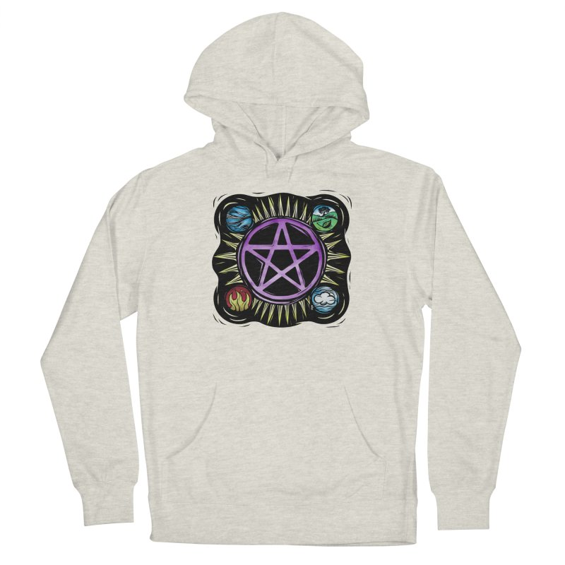 Elemental Pentagram Women's French Terry Pullover Hoody by Mandragora Magika