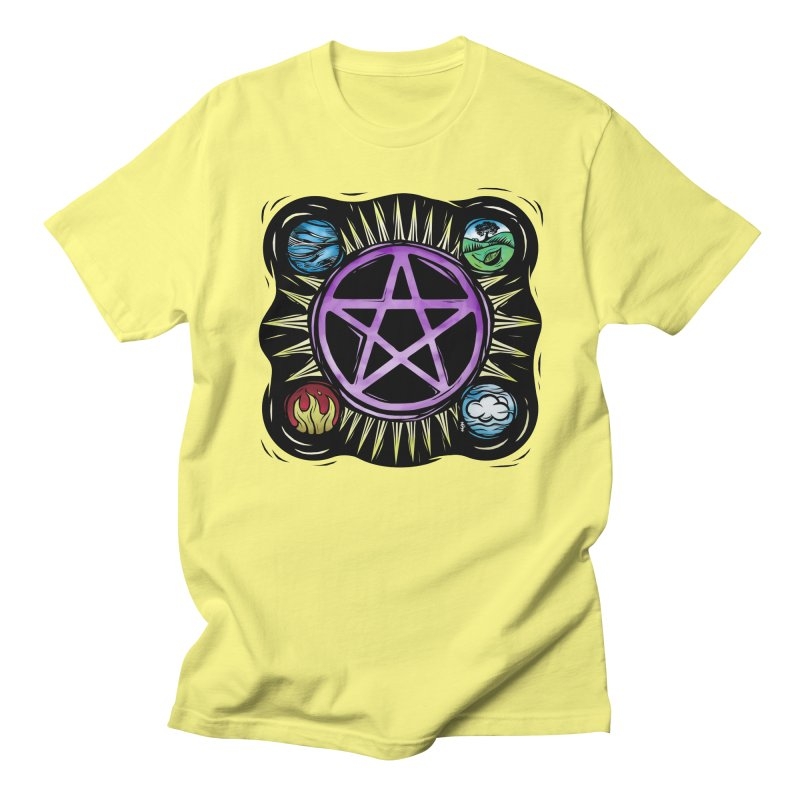 Elemental Pentagram Men's T-Shirt by Mandragora Magika
