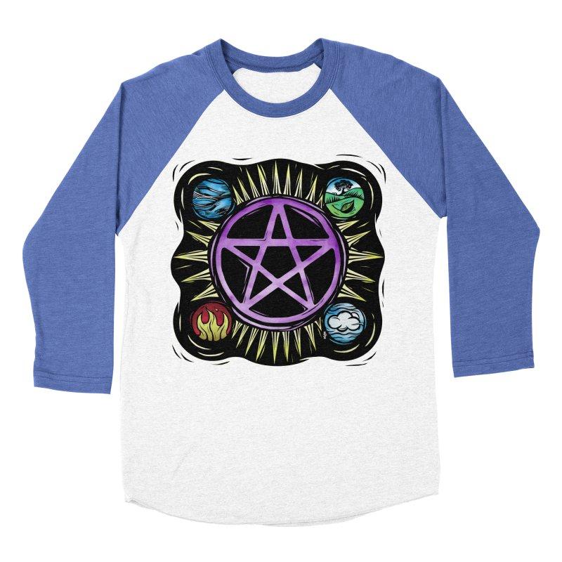 Elemental Pentagram Women's Baseball Triblend Longsleeve T-Shirt by Mandragora Magika