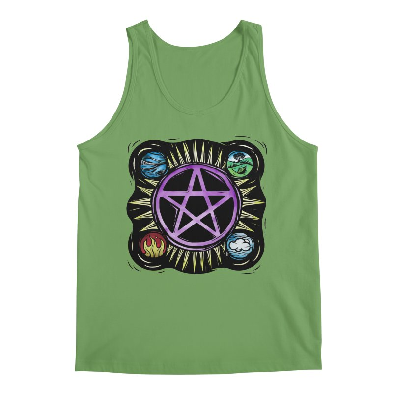 Elemental Pentagram Men's Tank by Mandragora Magika