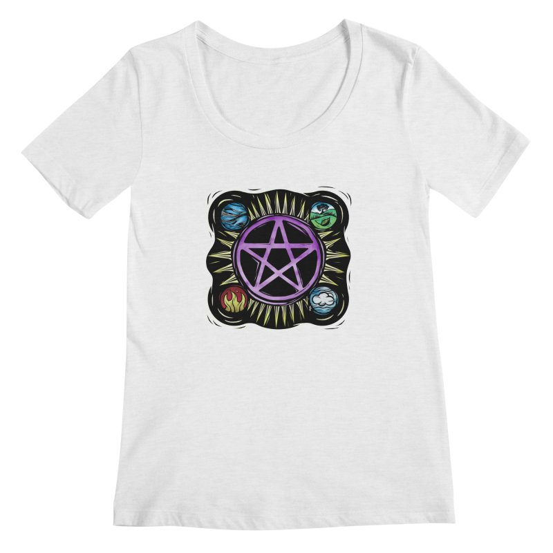 Elemental Pentagram Women's Regular Scoop Neck by Mandragora Magika