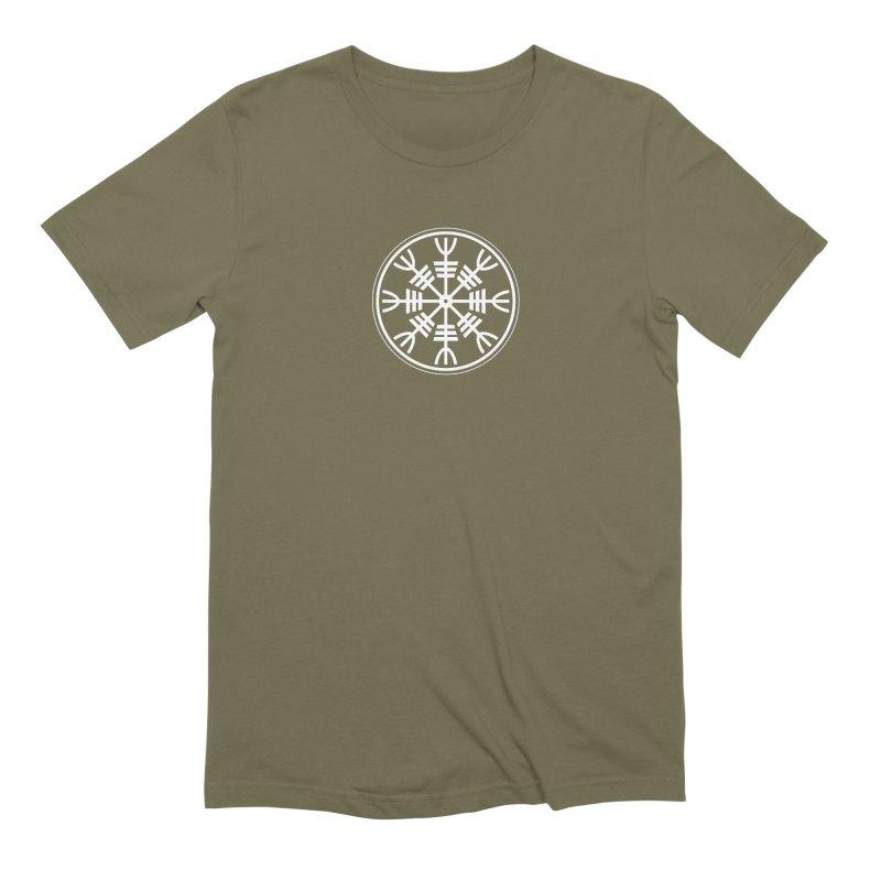 Aegishjalmr/Aegishjalmur, The Helm of Awe Viking Symbol Men's Extra Soft T-Shirt by Mandragora Magika