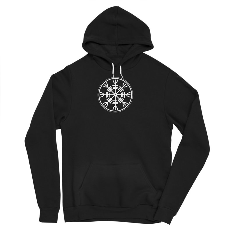 Aegishjalmr/Aegishjalmur, The Helm of Awe Viking Symbol Men's Sponge Fleece Pullover Hoody by Mandragora Magika