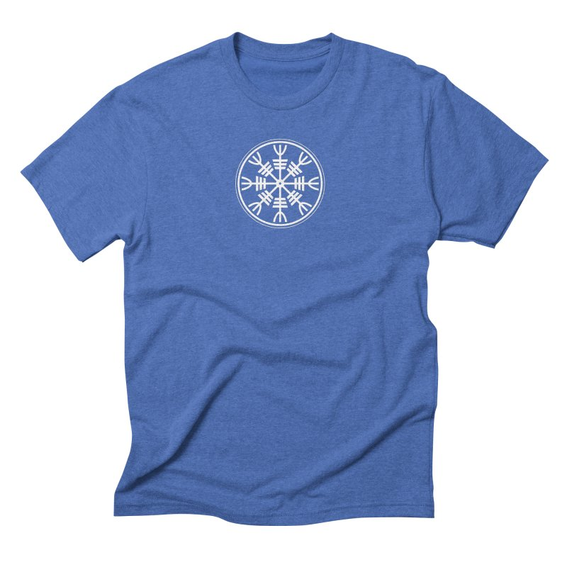 Aegishjalmr/Aegishjalmur, The Helm of Awe Viking Symbol Men's Triblend T-Shirt by Mandragora Magika
