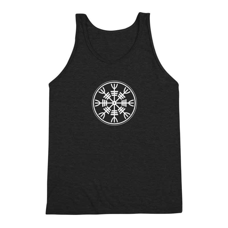 Aegishjalmr/Aegishjalmur, The Helm of Awe Viking Symbol Men's Triblend Tank by Mandragora Magika