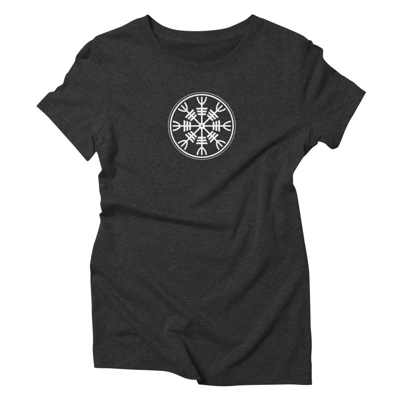 Aegishjalmr/Aegishjalmur, The Helm of Awe Viking Symbol Women's Triblend T-Shirt by Mandragora Magika