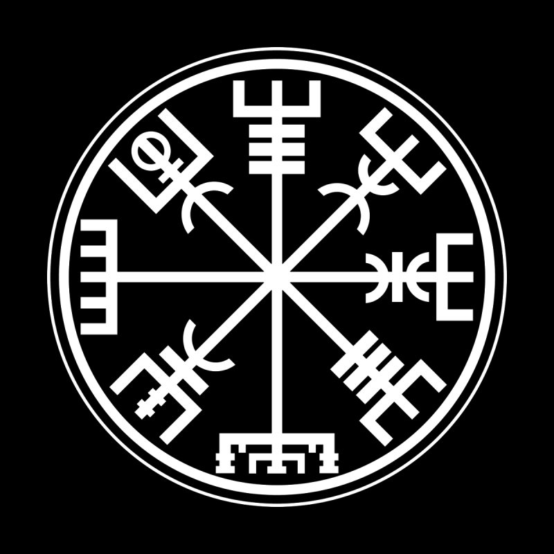 "Vegvisir ""That Which Shows the Way"" Viking Symbol by Mandragora Magika"