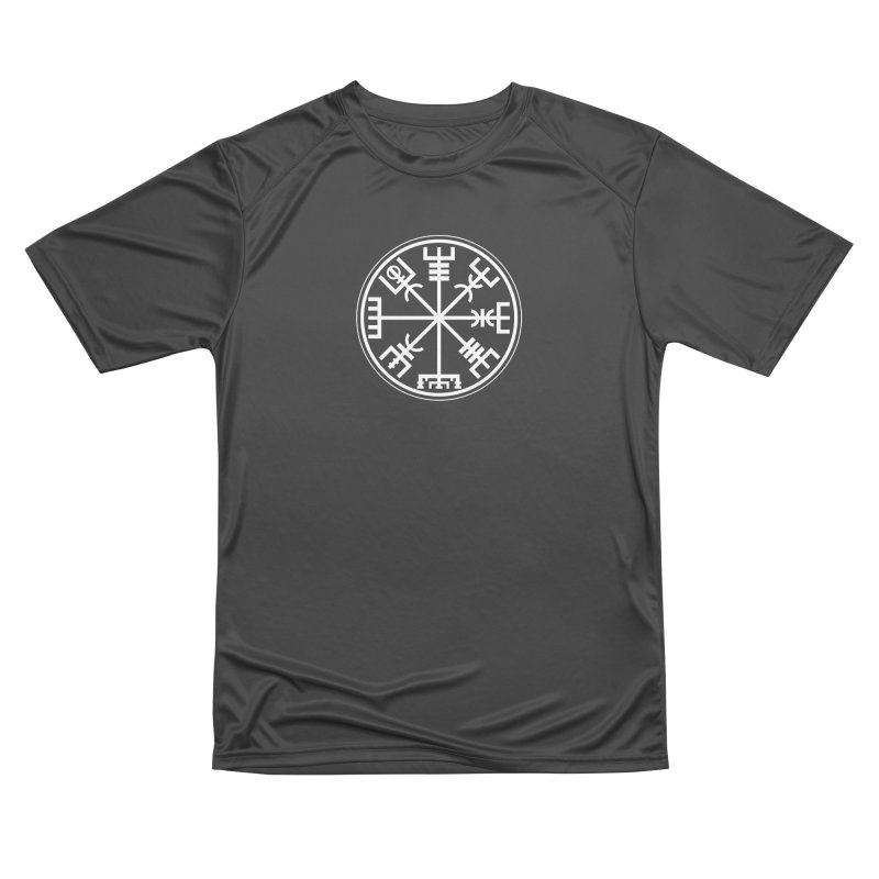 "Vegvisir ""That Which Shows the Way"" Viking Symbol Men's Performance T-Shirt by Mandragora Magika"