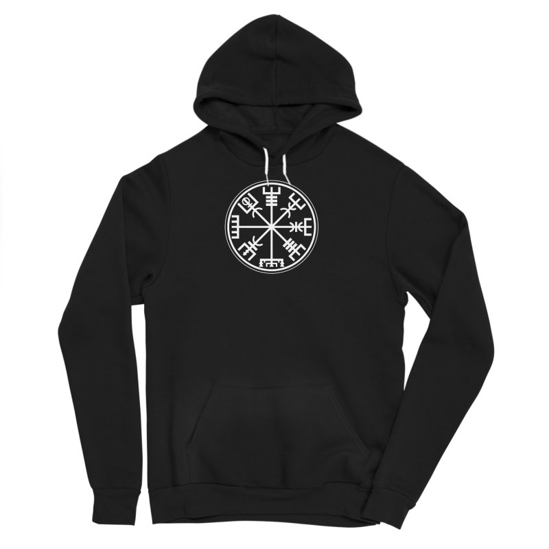 "Vegvisir ""That Which Shows the Way"" Viking Symbol Men's Sponge Fleece Pullover Hoody by Mandragora Magika"