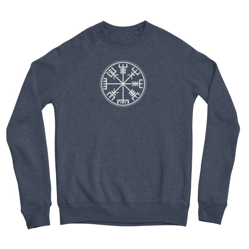 "Vegvisir ""That Which Shows the Way"" Viking Symbol Men's Sponge Fleece Sweatshirt by Mandragora Magika"