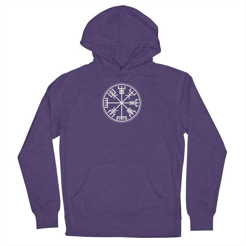 """Vegvisir """"That Which Shows the Way"""" Viking Symbol Women's French Terry Pullover Hoody by Mandragora Magika"""