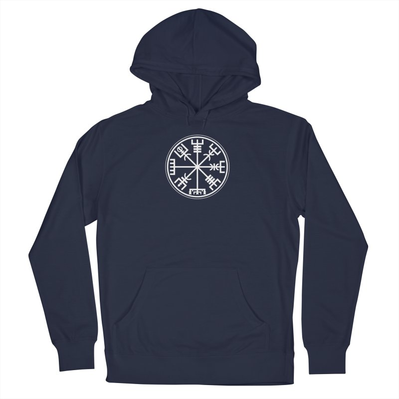"Vegvisir ""That Which Shows the Way"" Viking Symbol Men's French Terry Pullover Hoody by Mandragora Magika"