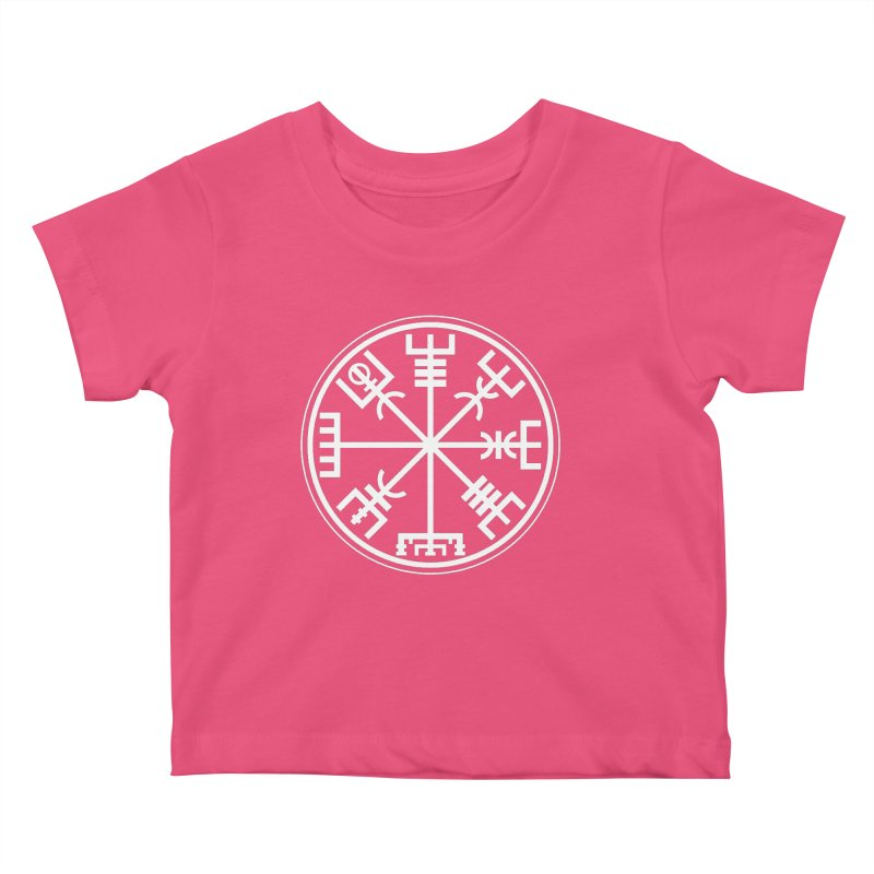 "Vegvisir ""That Which Shows the Way"" Viking Symbol Kids Baby T-Shirt by Mandragora Magika"