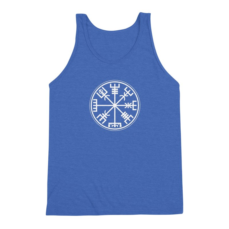 "Vegvisir ""That Which Shows the Way"" Viking Symbol Men's Triblend Tank by Mandragora Magika"