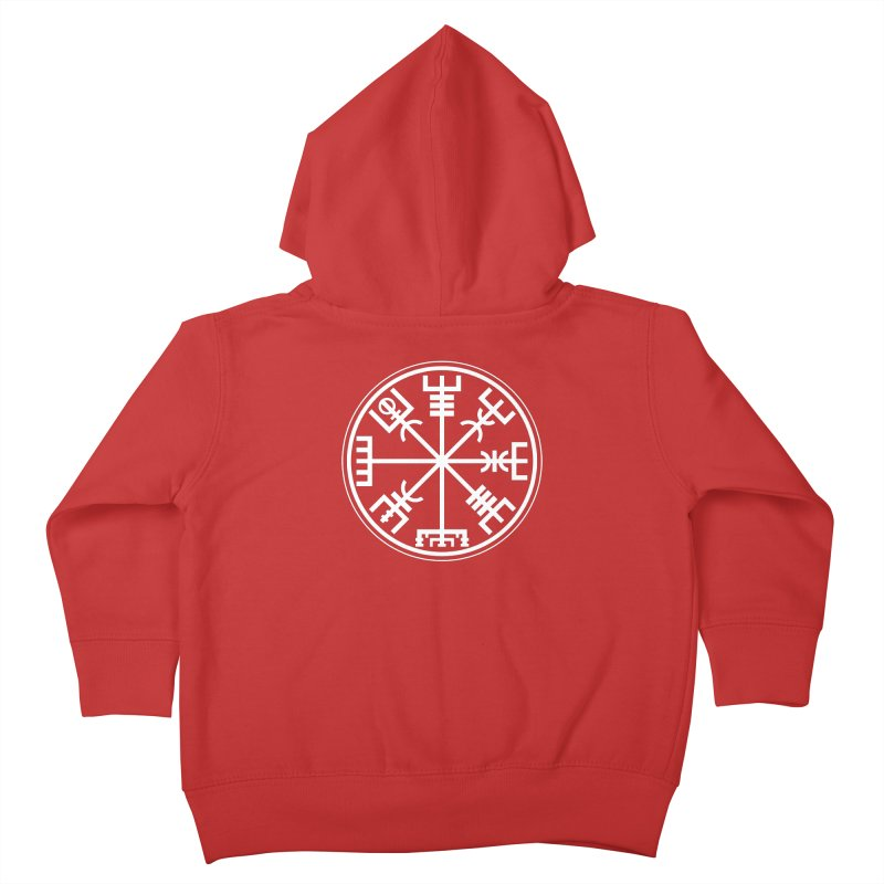 "Vegvisir ""That Which Shows the Way"" Viking Symbol Kids Toddler Zip-Up Hoody by Mandragora Magika"