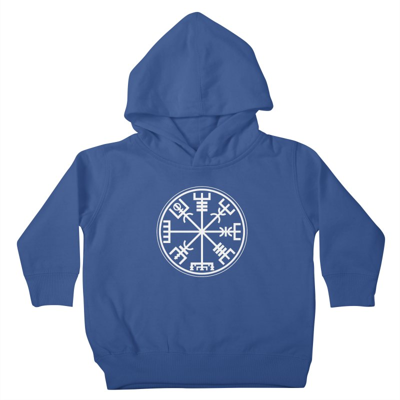 "Vegvisir ""That Which Shows the Way"" Viking Symbol Kids Toddler Pullover Hoody by Mandragora Magika"