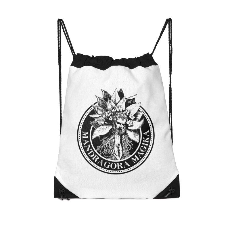 Mandragora Magika Logo Accessories Drawstring Bag Bag by Mandragora Magika