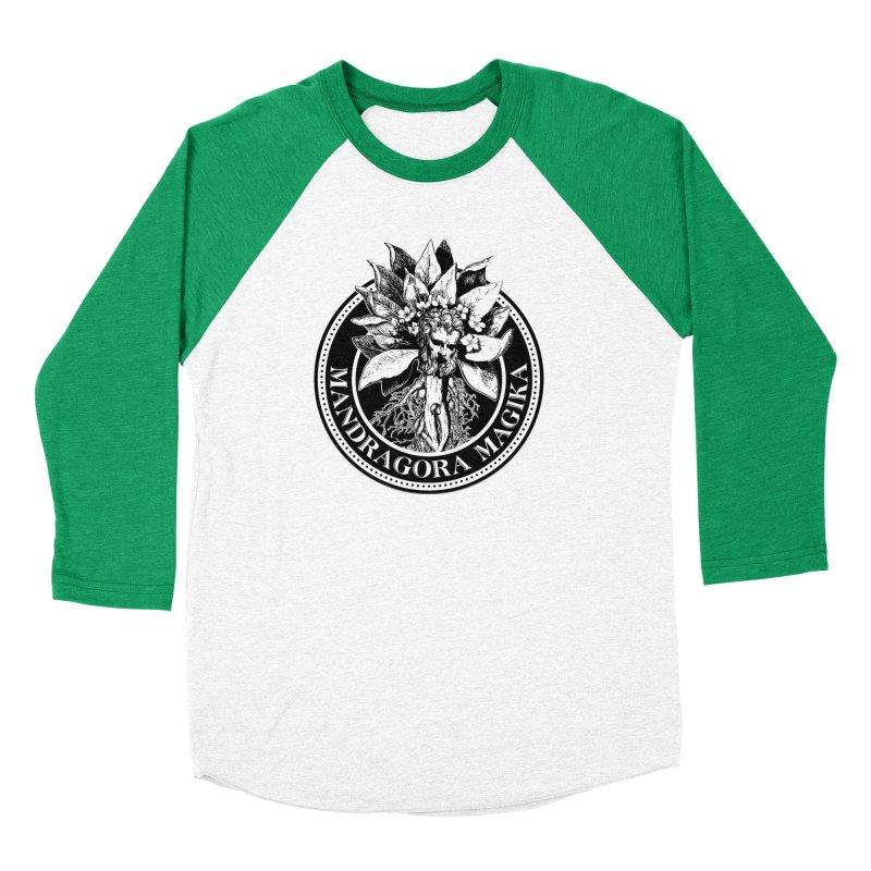 Mandragora Magika Logo Men's Baseball Triblend Longsleeve T-Shirt by Mandragora Magika