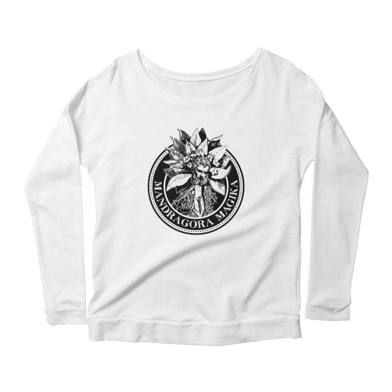 Mandragora Magika Logo Women's Scoop Neck Longsleeve T-Shirt by Mandragora Magika