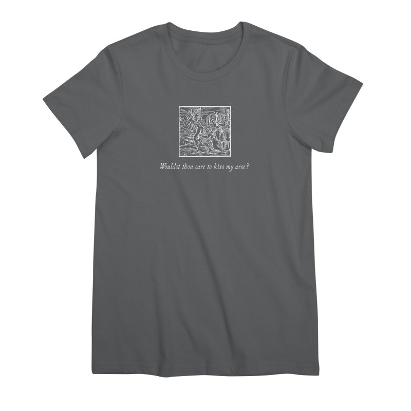 Osculum Infame: The Shameful Kiss Women's Premium T-Shirt by Mandragora Magika