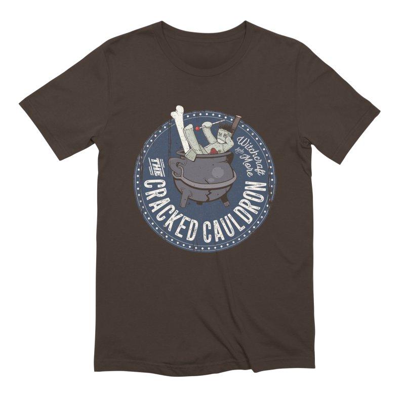 The Cracked Cauldron Men's Extra Soft T-Shirt by Mandragora Magika