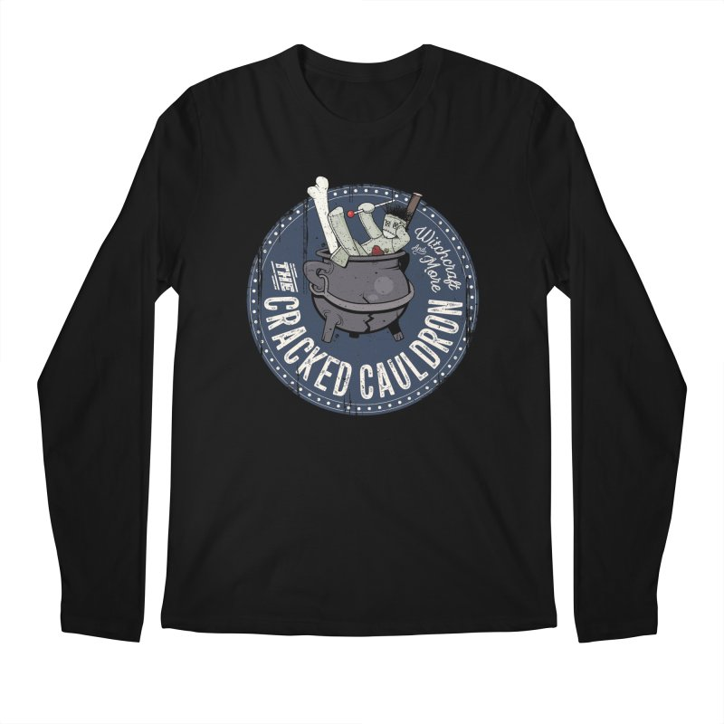 The Cracked Cauldron Men's Regular Longsleeve T-Shirt by Mandragora Magika