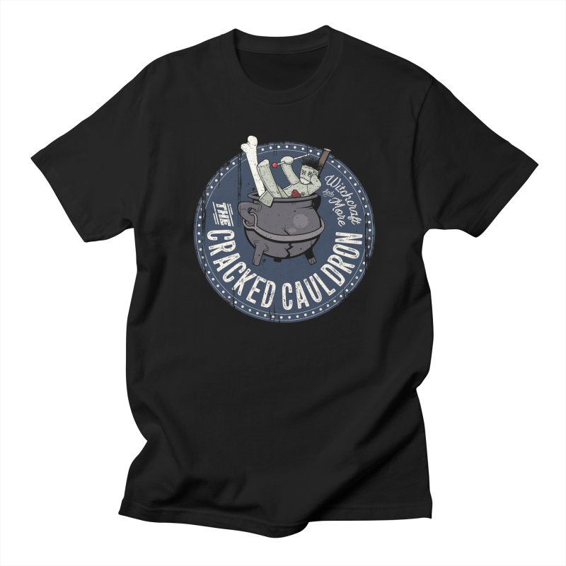 The Cracked Cauldron Men's Regular T-Shirt by Mandragora Magika