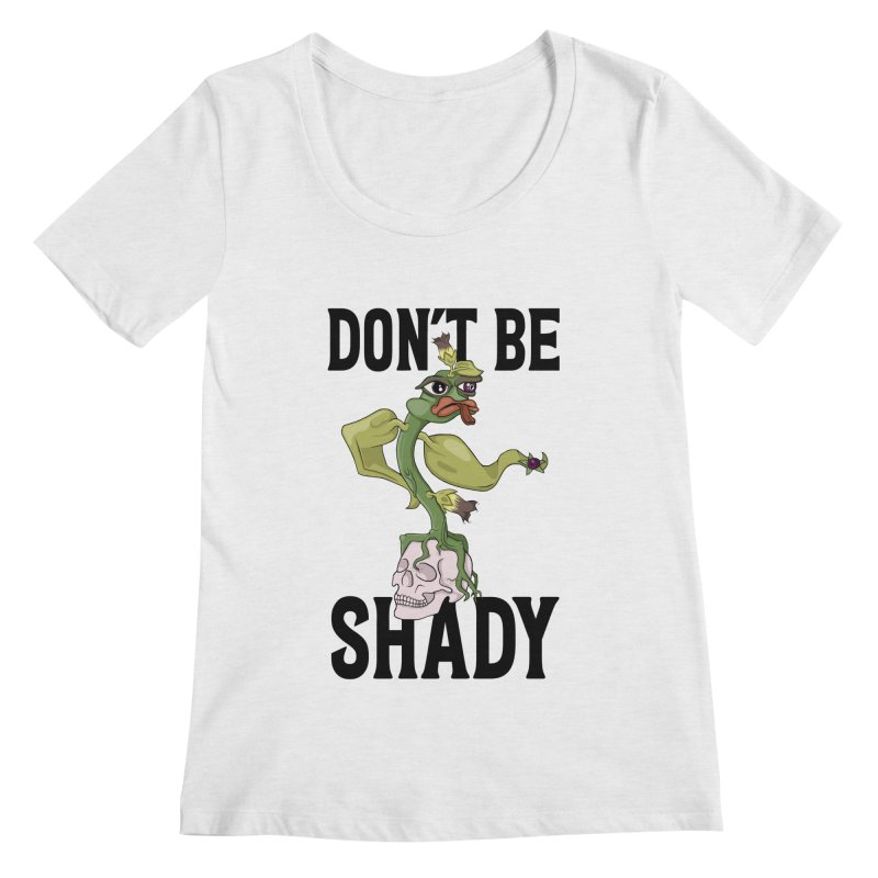 Don't Be Shady - Deadly Nightshade Women's Regular Scoop Neck by Mandragora Magika