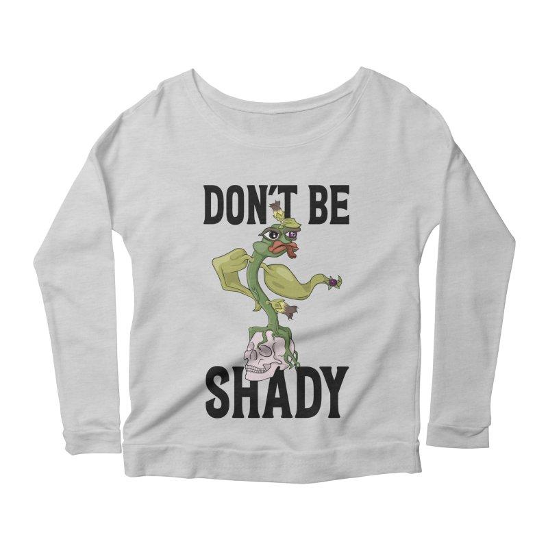 Don't Be Shady - Deadly Nightshade Women's Scoop Neck Longsleeve T-Shirt by Mandragora Magika