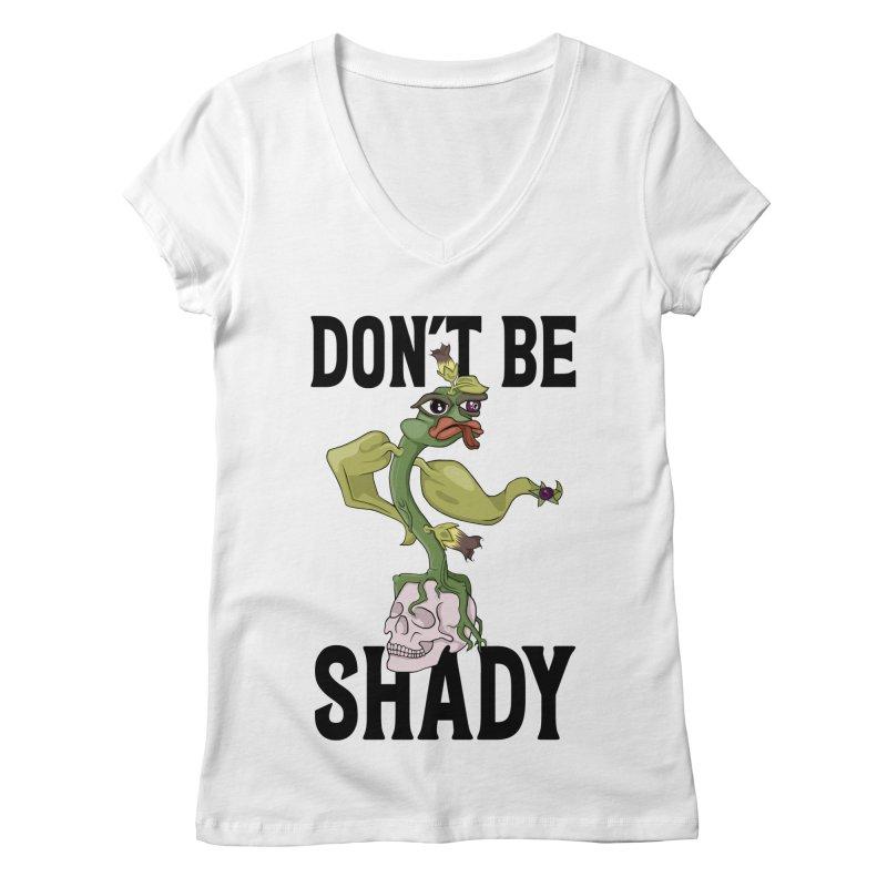 Don't Be Shady - Deadly Nightshade Women's V-Neck by Mandragora Magika
