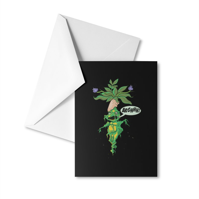 Pulling Up Mandrakes! Accessories Greeting Card by Mandragora Magika