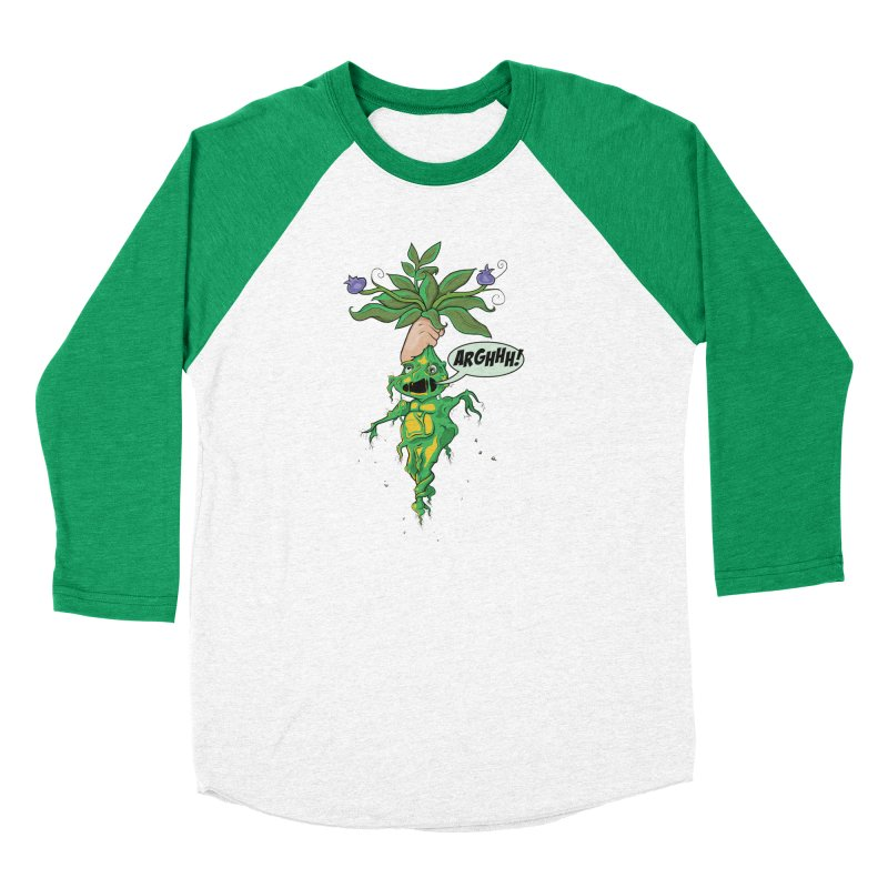 Pulling Up Mandrakes! Men's Baseball Triblend Longsleeve T-Shirt by Mandragora Magika