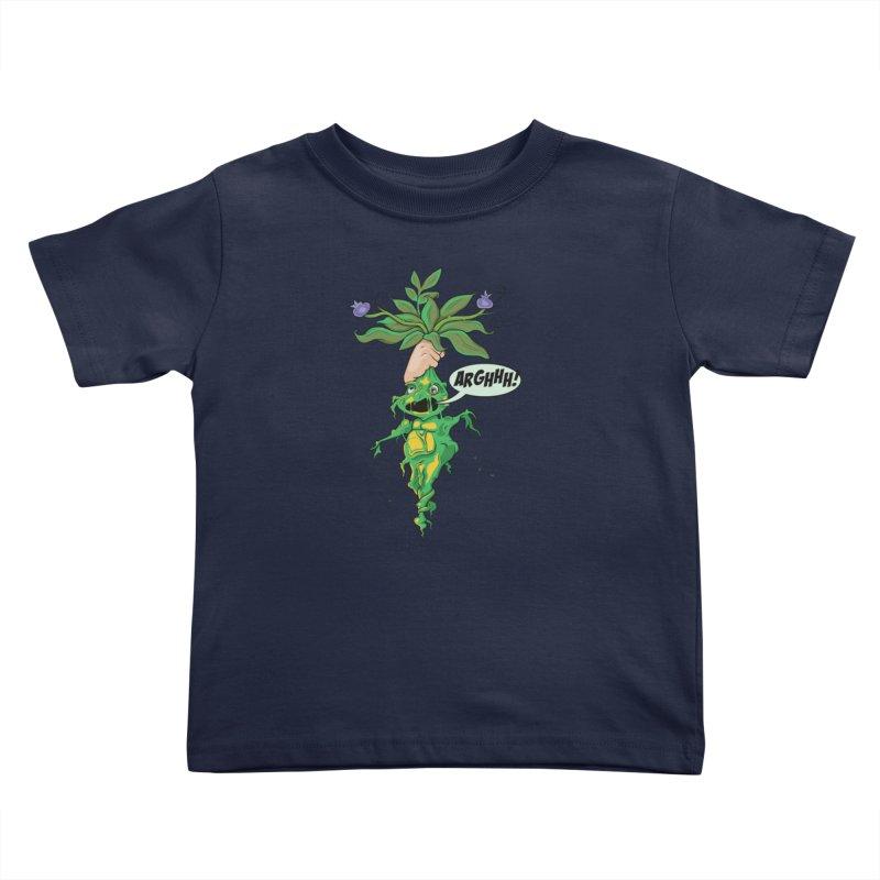 Pulling Up Mandrakes! Kids Toddler T-Shirt by Mandragora Magika