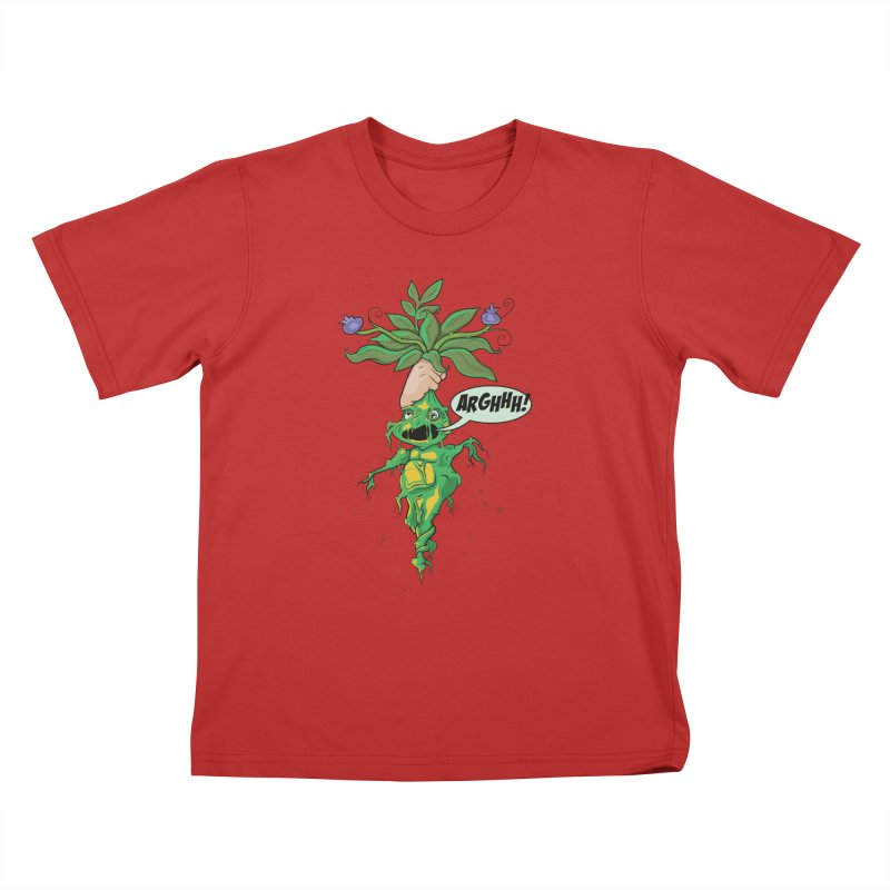 Pulling Up Mandrakes! Kids T-Shirt by Mandragora Magika