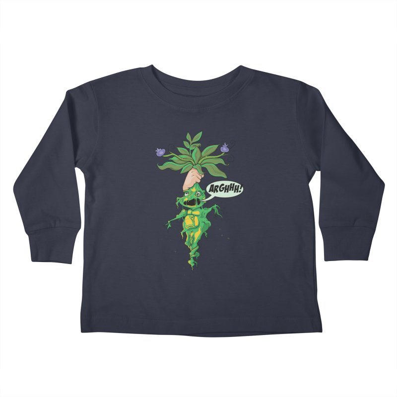 Pulling Up Mandrakes! Kids Toddler Longsleeve T-Shirt by Mandragora Magika