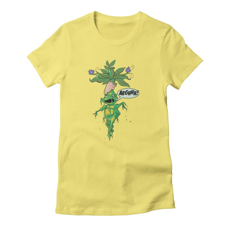 Pulling Up Mandrakes! Women's Fitted T-Shirt by Mandragora Magika