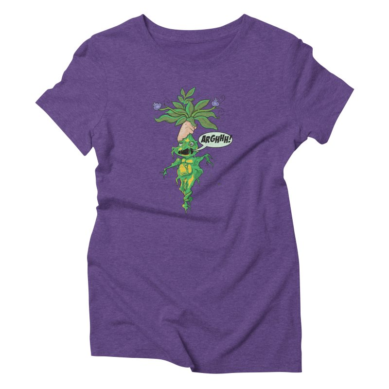 Pulling Up Mandrakes! Women's Triblend T-Shirt by Mandragora Magika