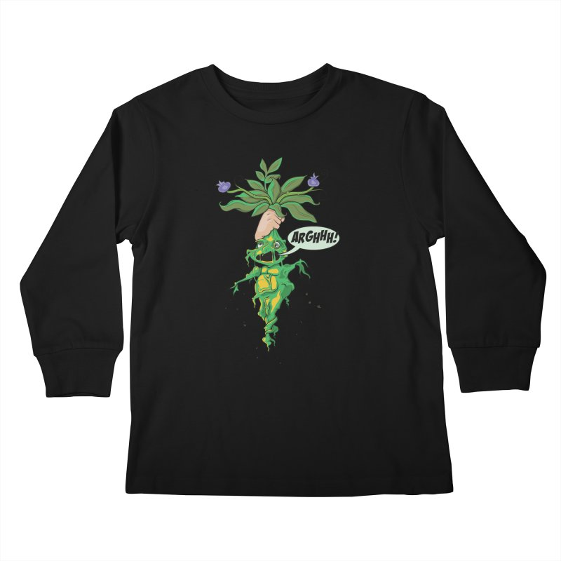 Pulling Up Mandrakes! Kids Longsleeve T-Shirt by Mandragora Magika