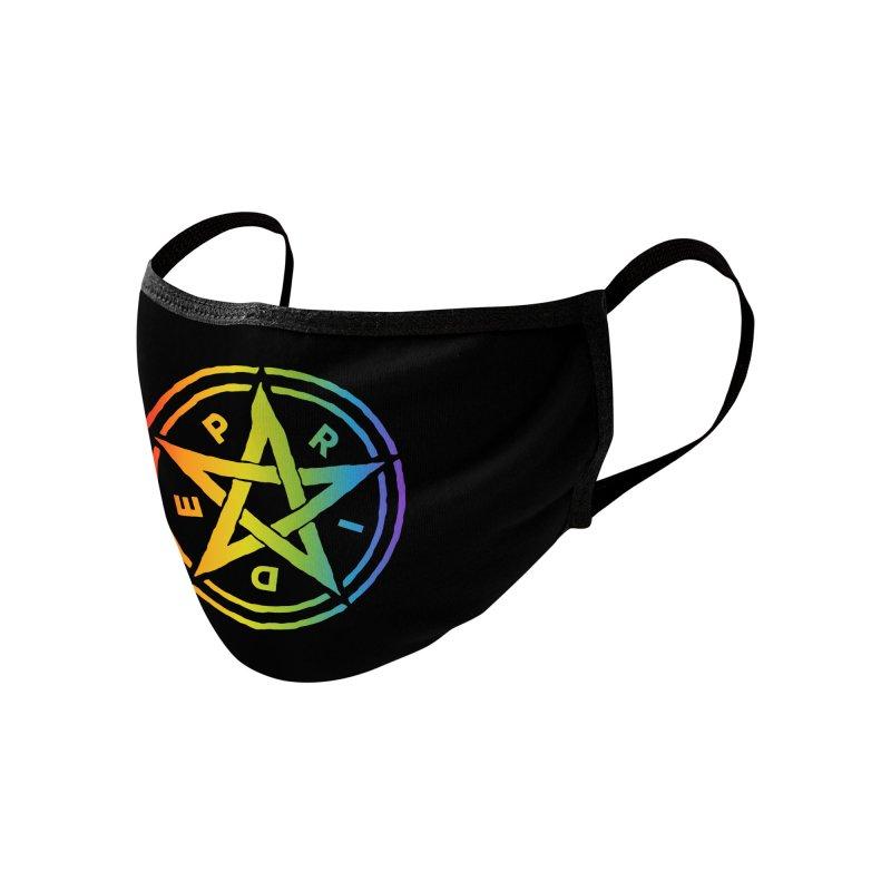 Pride Pentagram Accessories Face Mask by Mandragora Magika