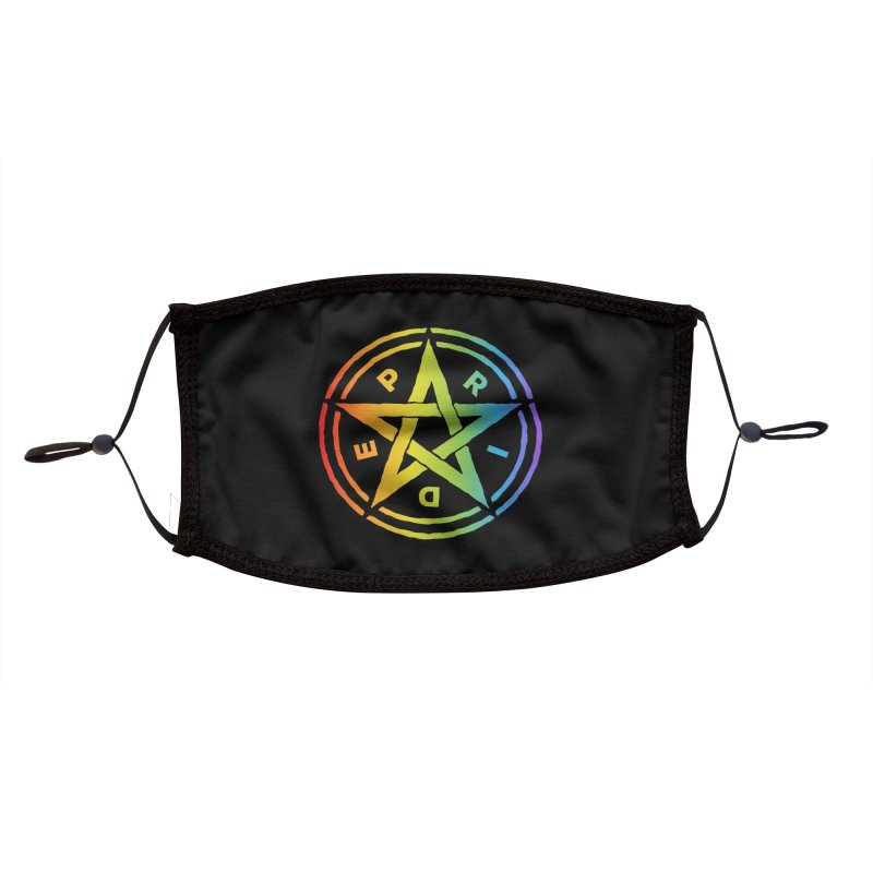Pride Pentagram Accessories Face Mask by Mandragora Magika