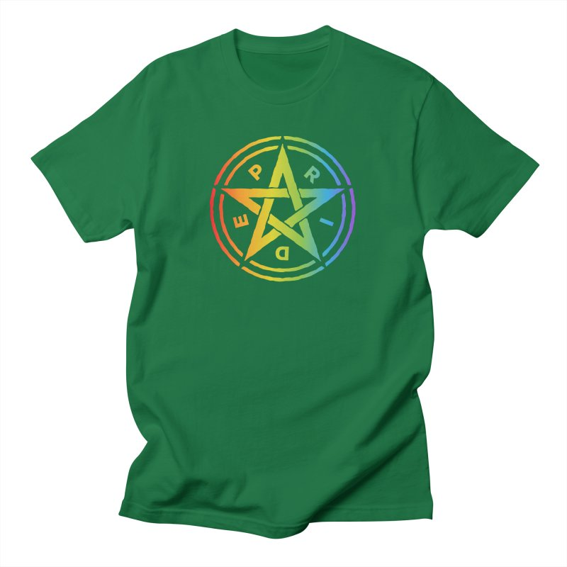 Pride Pentagram Men's T-Shirt by Mandragora Magika