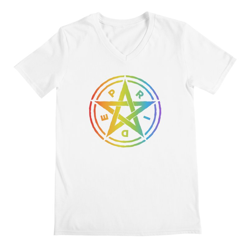 Pride Pentagram Men's V-Neck by Mandragora Magika
