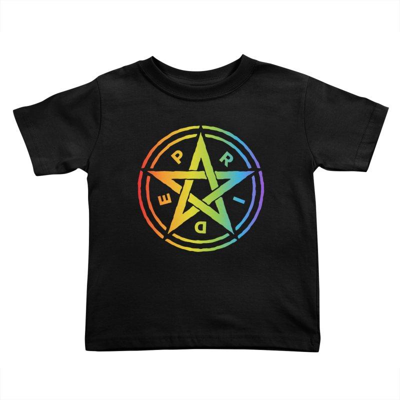 Pride Pentagram Kids Toddler T-Shirt by Mandragora Magika