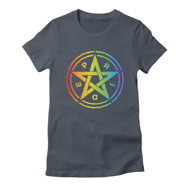 Pride Pentagram Women's T-Shirt by Mandragora Magika