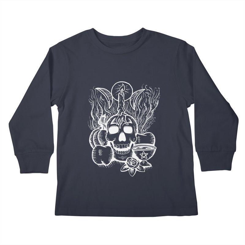 Samhain Night Kids Longsleeve T-Shirt by Mandragora Magika