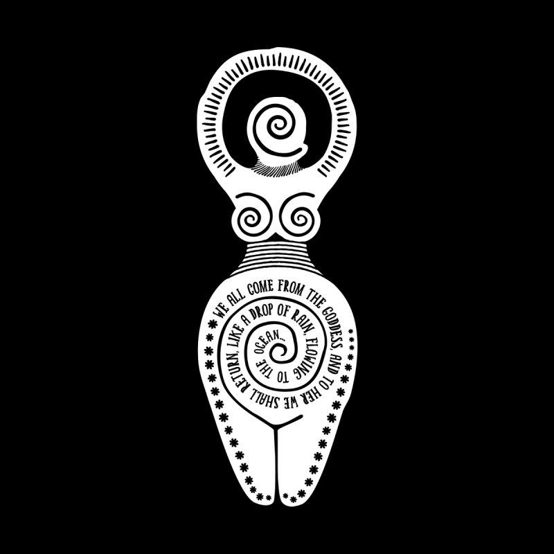 Spiral Goddess Kids Longsleeve T-Shirt by Mandragora Magika