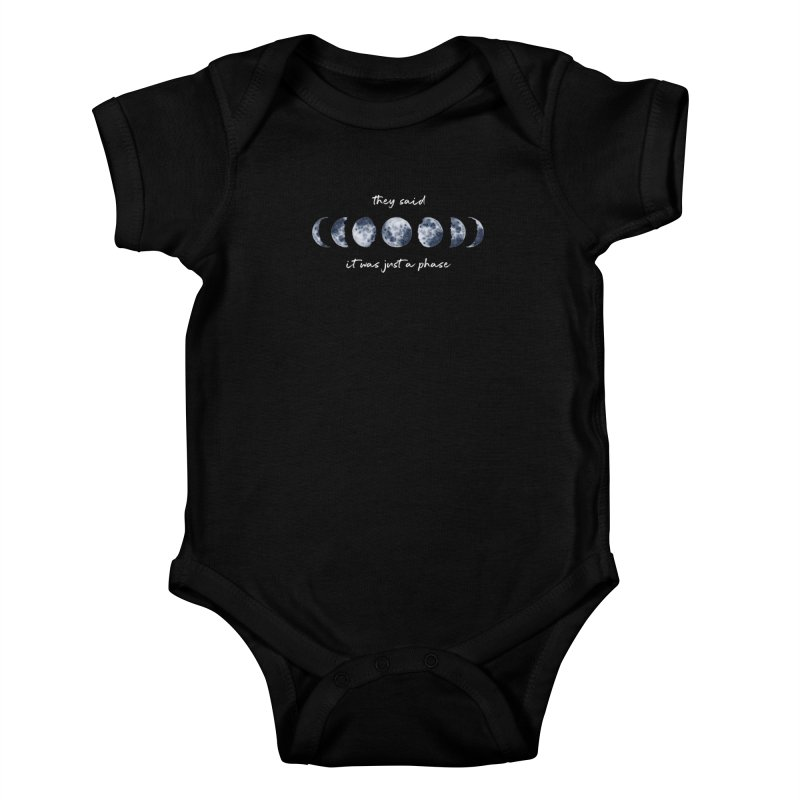 Just a Phase Kids Baby Bodysuit by Mandragora Magika